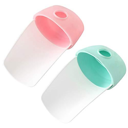 SZWL Extensor De Grifo Niños, Extensor De Grifo De Plástico Extensor Grifo Del Fregadero Seguro Para Cocina Baño Bebés Lavado De Manos, 2 Piezas (Rosa + Verde)