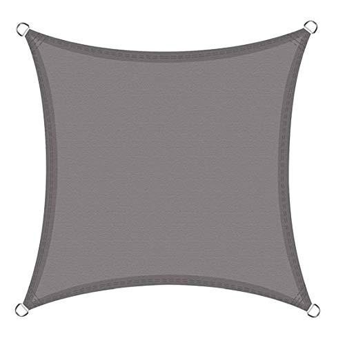 LAANCOO Impermeable Sombra Toldo Toldo, Resistente Al Agua Cortina Toldo Toldo para Al Aire Libre del Jardín del Patio Cuadrado (2x2, Gris)