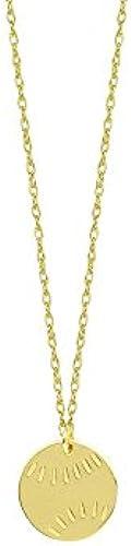 14  Gelb Gold Mini Baseball verstellbar Halskette Spitze 46cm