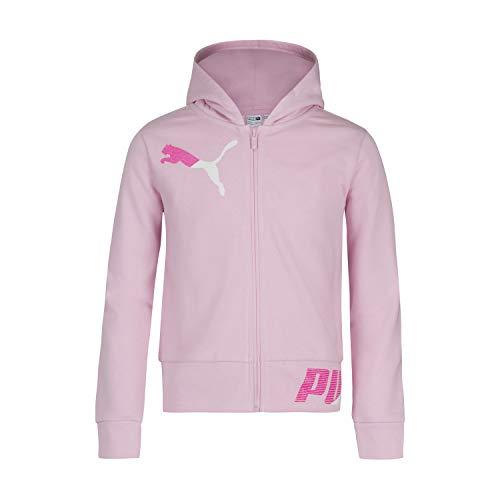 PUMA Sudadera con cremallera para niña - rosa - X-Large