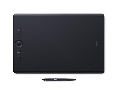Wacom Intuos Pro Large Grafik-Tablett mit Bluetooth-Funktion – Großflächiges Format für digitales Zeichnen und Fotoretusche mit besonders hoher Drucksensitivität und anpassbaren Befehlstasten