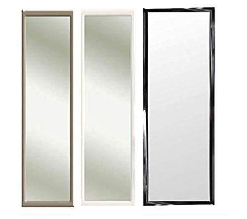 Riyashop 3 Farben Türspiegel Tür Spiegel Hängespiegel Rahmenspiegel 35x95cm schwarz Weiss (Schwarz)