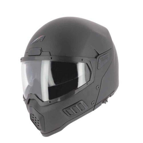 Astone Helmets - Spectrum - Casque de moto intégral - Casque intégral homologué - Casque de moto en fibre de verre - Matt black M