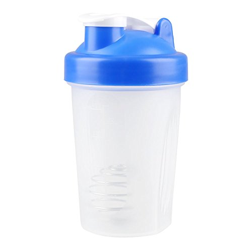 Kicode 400ml color al azar Gimnasio inteligente agitador de la proteína Copa mezclador Botella potable para Viajes Deportes