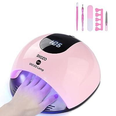 80W UV Nail Lamp, DIOZO High Power Nail Dryer, ...