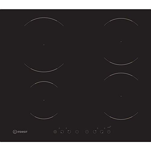 Indesit VIA 640 0 C Piano Induzione, Glass-Ceramic, Nero