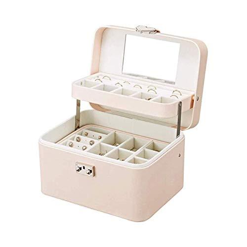 LSLS Caja joyero Caja de Almacenamiento de Caja de joyería de la Mano de la Mano del hogar Caja de joyería Femenina de Gran Capacidad Organizador de Joyas
