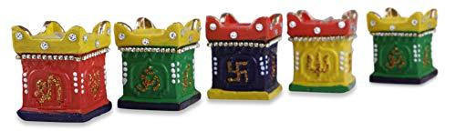 Tuelip Diya für Weihnachtsdekorationen, handgefertigt, traditionelles Terrakotta-Ton, Diya Diwali, erdige Öllampe, Diwali Geschenk, Ton Diya