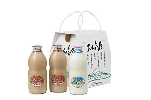 ギフトミルクBセット 特選大山おいしい牛乳 カフェオレセット (熨斗有(御中元))