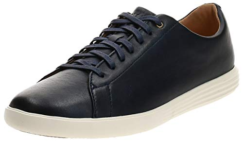 Cole Haan Men's Grand Crosscourt II Sneakers, Navy Leather Brnsh, 9