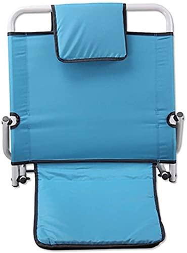 JINCA Respaldo de la cama de elevación ajustable, respaldo de la cama Atrás Atrás Cojín Atrás Soporte de la espalda ANTIGUO PERSONAS BEDIDAS Suministros de enfermería Sillón de pacientes (Color: Azul