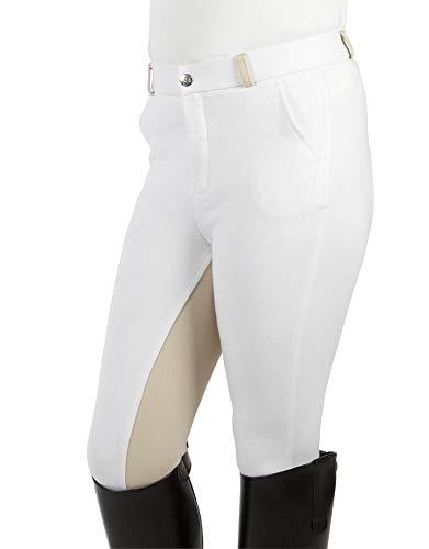 PFIFF Bryczesy dziecięce Elisa, wkładka z materiału, modny dwukolorowy wygląd, super miękkie, 134, Weiß (White/Beige)