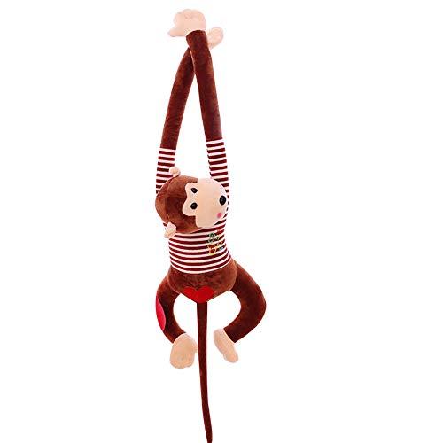 Steellwingsf - Peluche de Mono de Cola Larga con Dibujos Animados, marrón, 95 cm