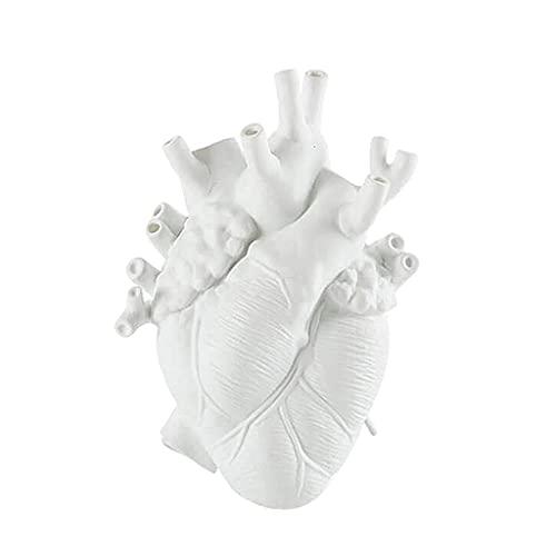 Generic Decorativa in Resina Vaso Anatomico del Cuore a Forma di Vaso di Fiori sul Desktop Ornamento novità Vasi di Fiori Artigianato del Desktop per