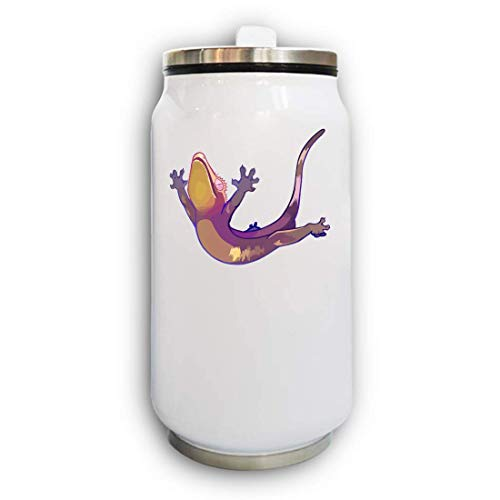 Iprints Cute Cartoon Gecko Belly Flop Thermische Beverage Can Thermos