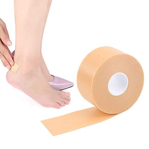 Moleskin Rolle Mehrzweck-Anti-Rutsch-Fußpflege-Sticker Blister-Pads, wasserfest, selbstklebend, hochhackiges Schaumstoff-Klebeband, gepolsterte Schutz-Einlegesohlen, Aufkleber zur Vorbeugung Heilung
