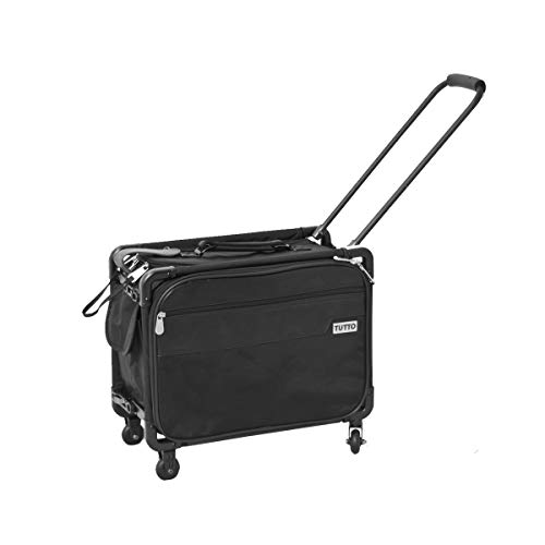 TUTTO 17-Inch Small Office on Wheels for Laptop, Black (4217BCC)