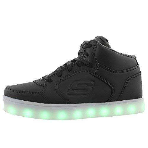 Skechers Jungen Energy Lights Sneaker, Schwarz (Black), 34 EU