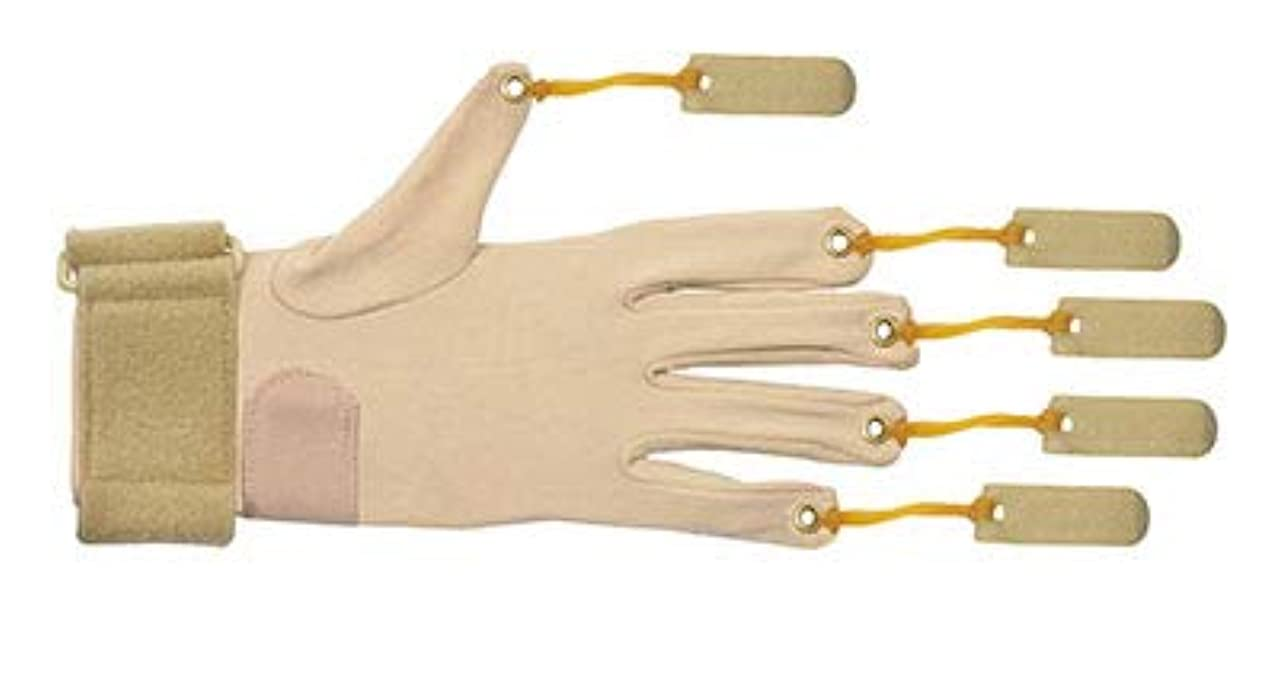 CanDo Deluxe with Thumb Finger Flexion Glove, Left, Small/Medium