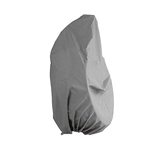 Juego de sofá de jardín, sombra de muebles, cubierta antipolvo, silla colgante, toldo a prueba de polvo, tela de jardín, resistente al desgaste, impermeable, columpio para patio al aire l(Color:gris)