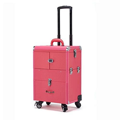 XUSHEN-HU Rueda caja de herramientas universales de gran capacidad multi-capa de la carretilla de la caja cosmética del salón de belleza de manicura y maquillaje caja de herramientas caja de almacenam