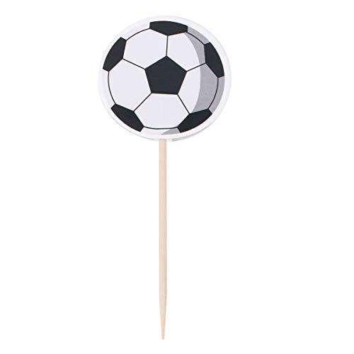 Amosfun 72 stücke Fußball Picks Cupcake Topper Party Dekoration Lieferungen für Geburtstagstorte