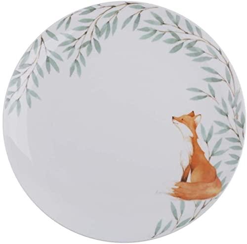 Kosz na warzywa owocowe, Nordic Bone China Western Stek do steków Ceramiczny duży talerz Kreatywny 10-calowy talerz ze wzorem zwierzęcym A 27X2,5Cm Stojak na owoce