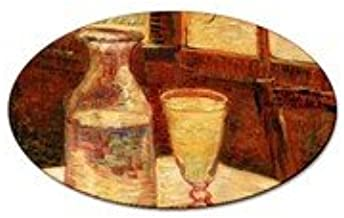 Still Life with Absinthe By Vincent Van Gogh Oval Magnet