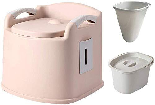 WYZXR Kompakte transportable Toilette, Campingkommode mit doppeltem Inneneimer, sicher und rutschfest, für den Außenbereich, zum Angeln oder für den Urlaub geeignet