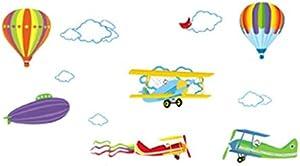 ملصق منزلي من البولي فينيل كلورايد مطبوع عليه طائرات البطيخ وطائرات الهواء