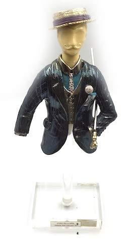 Etruria Statue Mode Amerika jaren 20, zilver, goud zilver en email, hoogte 22 cm, basis 5 x 7 cm