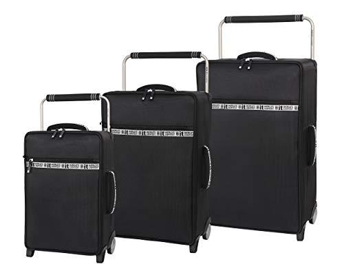 it luggage World's Lightest Flaunt 3 Piece Softside Set, Black