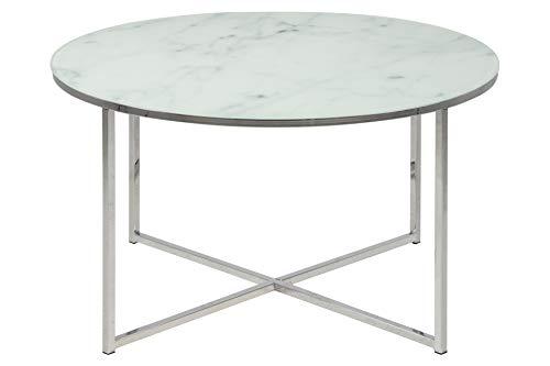 AC Design Furniture 0000057546 Mesa de Centro, Marco Cromado