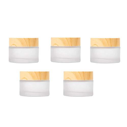 Moligin Envases cosméticos Crema Tarro Muestra Ollas cosmético compone de Cristal vacío...