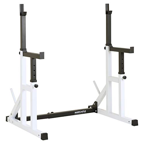 Hardcastle Bodybuilding Adjustable Squat Rack with Spotters and Dip Bars
