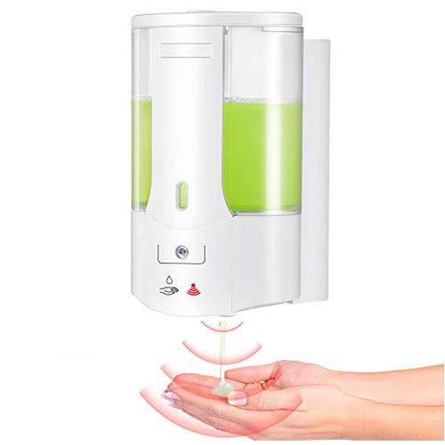 AEUWIER Automatischer Seifenspender Desinfektionsspender, 400 ml Berührungsfreier Handdesinfektionsspender, Gel Seifenspender Wandmontage für das Restaurantkrankenhaus