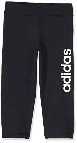 adidas Yg Tr Lin 3/4 T Leggings für Mädchen M schwarz/weiß
