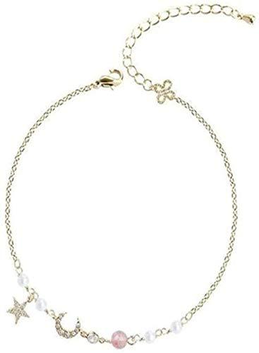 CCXXYANG Co.,ltd Necklace Moon Half-Bend Bracelet Small Star Four-Leaf Grass Minority Design Fairy Super Fairy