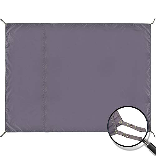 REDCAMP Large Waterproof Camping Tarp Lightweight, Multifunctional Insulated Tent Footprint for Camping Hiking Backpacking, Grey 106'x83'