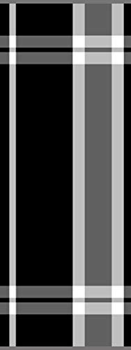 Lashuma Luzern - Toalla para sauna (80 x 200 cm), diseño a rayas, color marrón y negro, 100 % algodón, Negro