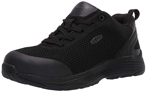 Keen Utility Women's Sparta Low Alloy Toe Non Slip Work Shoe, Black/11EE US, 11 Wide US