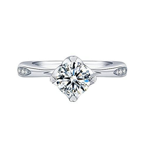 Anillo de imitación de Moissanite anillo de diamante de simulación anillo de compromiso
