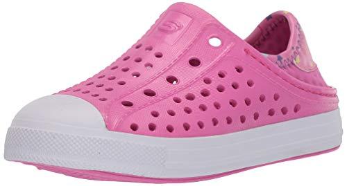 Skechers Girls Foamies Guzman Steps-Sandcastle Dreamer Water Shoe, Hot Pink, 2 Big Kid