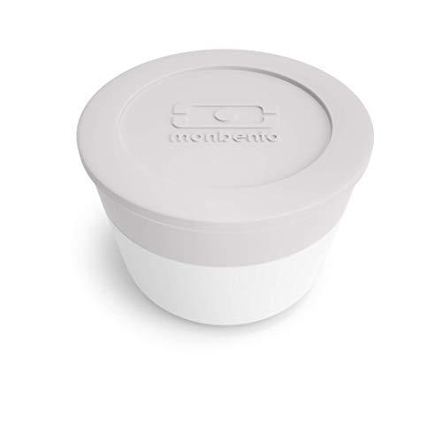monbento - MB Temple L Gris Coton - Recipiente para Salsa para Fiambrera - Hermético y Reutilizable - Compatible con la Lunch Box MB Square