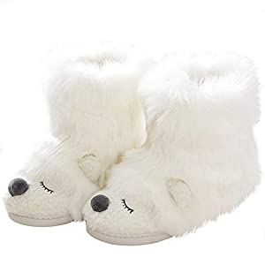 Cute Animal Fluffy Booties Slippers for Women Warm Soft Boots Monster Cosplay