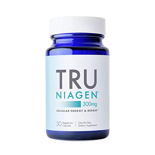 31BbepntvZL - TRU NIAGEN NAD+ Booster Supplement Nicotinamide Riboside NR for Energy Metabolism, Cellular Repair & Healthy Aging (Patented Formula) More Efficient Than NMN - 30 Count - 300mg (1 Month / 1 Bottle)