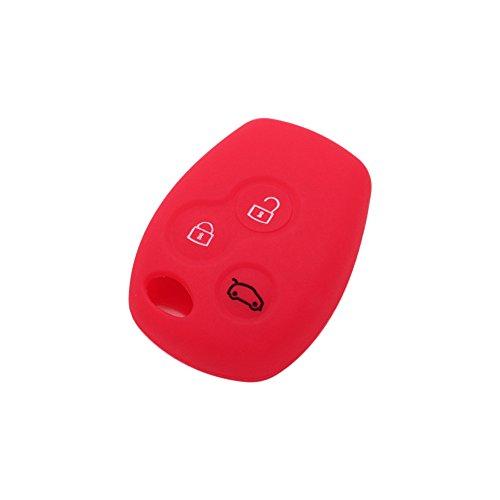 Fassport - Coque de porte-clé à distance en silicone à 3 boutons - Pour Renault - CV9300