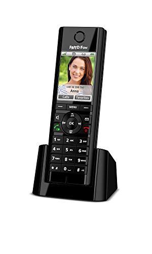 AVM FRITZ!Fon C5 DECT-Komforttelefon (hochwertiges Farbdisplay, HD-Telefonie, Internet-/Komfortdienste, Steuerung FRITZ!Box-Funktionen) schwarz, internationale Version