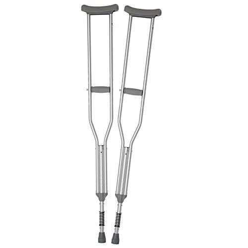 crutch Ältere Krücken Achselkrücken leichte, rutschfeste, höhenverstellbare Aluminiumkrücken