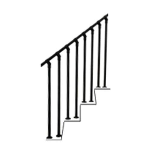 BAIYING Pasamanos De Escalera, Tridimensional Tubo Galvanizado La Seguridad Estable Fácil Subir Bajar Escaleras Agarre Auxiliar, Fácil De Instalar por Hombre Mayor Niño Mujer Embarazada